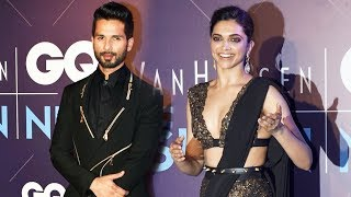 Padmavati Couple Deepika And Shahid At GQ Fashion Nights 2017 | Rani Padmavati And Ratan Singh