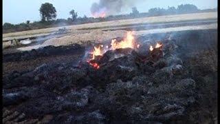 फिर जले किसान के अरमान, सैंकड़ों एकड़ फसल राख