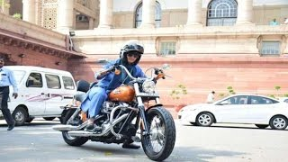 Congress MP reaches Parliament on Harley Davidson