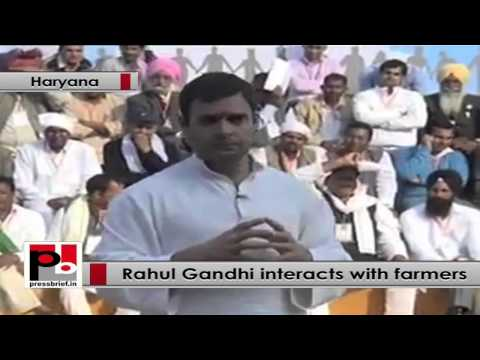 Rahul Gandhi to farmers- BJP had opposed Rajiv Gandhi's move for computerization