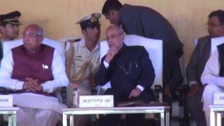 सोनीपत आए राष्ट्रपति प्रणब मुखर्जी, निजी कार्यक्रम में की शिरकत