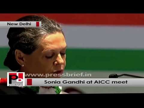 Sonia Gandhi at AICC Session- Our efforts must be to meet the aspirations of the people