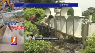 GHMC Collapsing Illegal Construction in Hyderabad | Updates | iNews