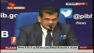 NITI Aayog CEO Amitabh Kant Press Meet Over Digital Transactions | iNews