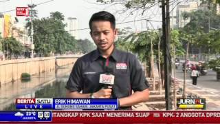 Sungai Ciliwung Menuju Pantai Ancol Tercemar Limbah Industri
