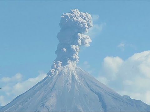 Raw- New Eruptions at Colima Volcano in Mexico News Video
