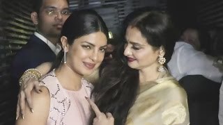 Evergreen Rekha At Priyanka Chopra's Grand Party For Baywatch