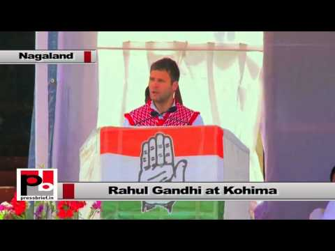 Rahul Gandhi at Nagaland - Nido was killed by the people who didn't respect northeasterners