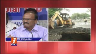 GHMC Commissioner Janardhan Reddy On Road Sinks an    (video id -  3118929e7435)
