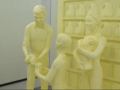 Raw- Butter Sculpture Unveiled at Pa. Farm Show News Video