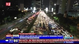 Pantauan Udara Kemacetan Menuju Keluar Jakarta