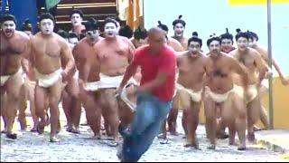 Video Lucu - Dikerjain & Dikejar Atlet Sumo Bikin Ngakak