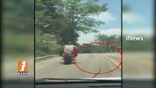 Flying Snake Attacks On Motorbike Rider in Thailand | Viral Video | iNews