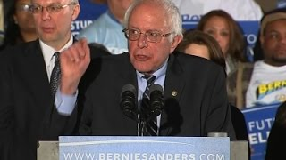 Sanders Celebrates Victory, 'Huge Voter Turnout'