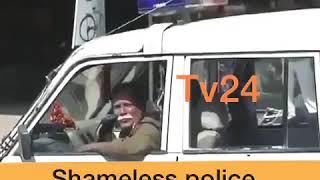 || Tv24 ||Karni sena jindabaad says police on loudspeaker