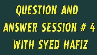 Q&A with Syed Hafiz # 4   Telugu Tech Tuts
