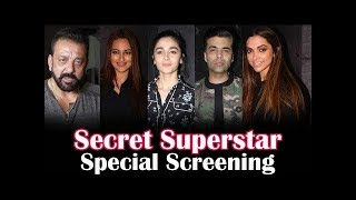 Aamir Khan's Secret Superstar Movie Special Screening | Deepika Padukone, Alia Bhatt Part 1