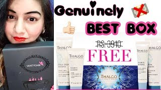 Vanity Cask January 2018 + FREE Thalgo - Luxurious Skin Care Products | JSuper Kaur