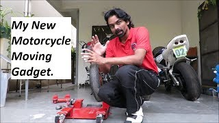 My New Motorcycle Moving Gadget. MOTORCYCLE DOLLY - BIKEGLIDE