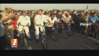 Cyclothon Safe & Smart Karimnagar Rally Cusses For Criticism   iNews