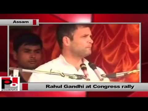 Rahul Gandhi campaigns at Sonitpur in Assam, slams Gujarat model, part 01