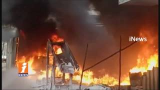 Huge Fire Accident In Plastic Factory In Cherlapally   Hyderabad   iNews