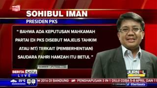 Tanggapan Presiden PKS Terkait Kabar Pemecatan Fahri Hamzah
