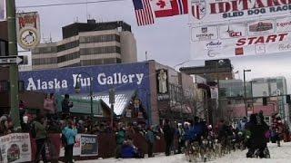 Raw: Iditarod Ceremonies Preview Sled Dog Race