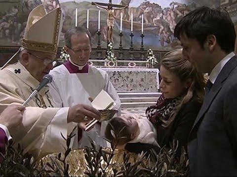 Raw- Pope Baptizes 33 Infants in Sistine Chapel News Video