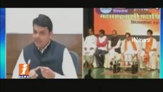 We Will Not Contest Shiv Sena For BMC Mayor Poll Says Maharashtra CM Devendra Fadnavis   iNews