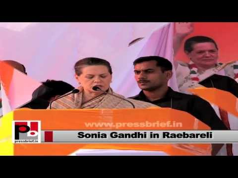 Sonia Gandhi- We will try to increase employment opportunities too with development