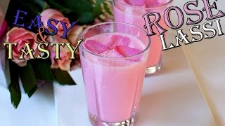 Rose lassi recipe - Summer drinks easy recipe