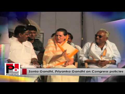 Energetic Congress leaders - Sonia Gandhi and Priyanka Gandhi –  charismatic personalities