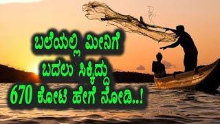 ಬಲೆಗೆ ಬಿದಿದ್ದು ಮೀನಿಗೆ ಬದುಲು 670 ಕೋಟಿ ಹೇಗೆ ನೋಡಿ | Kannada News | Top Kannada TV