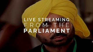 AAP MP Bhagwant Mann criticised for live streaming video from inside Parliament