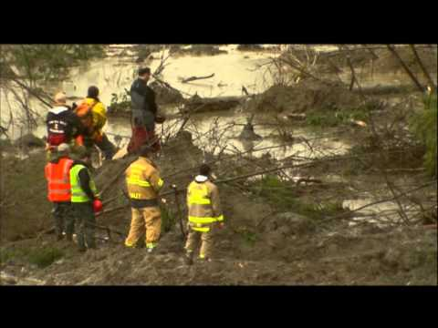 Work Pauses at Mudslide Site to Honor Victims News Video