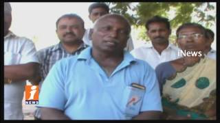 Lorry Container Truck Hits Divider In Khammam | Driver Spot Dead | iNews