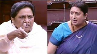 Rajya Sabha witnessed heated argument between Smriti and Mayawati