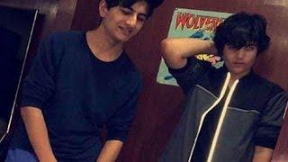 Bollywood star kids Ibrahim Khan & Aarav Kumar ULTRA COOL picture!