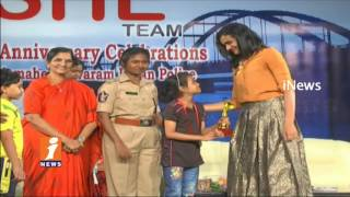 Badminton PV Sindhu Participate She Team's 1st Anniversary Celebrations In Rajahmundry | iNews