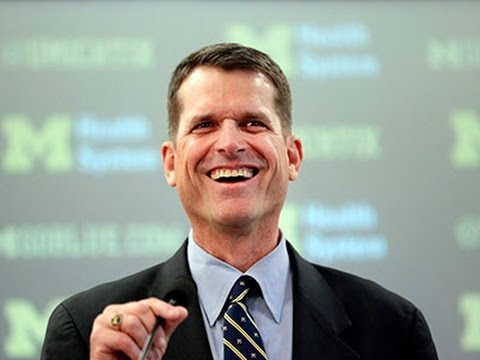 Harbaugh on Michigan 'Homecoming' News Video