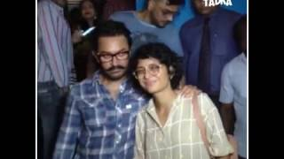 Aamir khan dines out with dangal girls