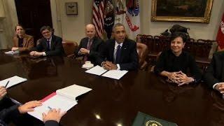 Obama Cheers Economy as 'Pretty Darn Great' News Video