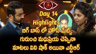 bigg boss telugu reality show  day 14 highlights - Star Maa-Madhupriya Eliminated - Madhupriya about
