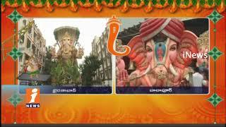 Khairatabad and Balapur Ganesh Shobha Yatra Started | Ganesh Nimajjanam Celebrations | iNews