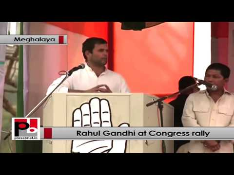 Rahul Gandhi in Meghalaya- India belongs to every citizen