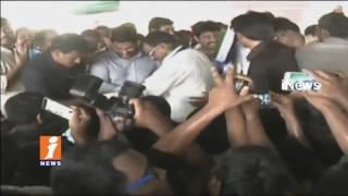YS Jagan Gets Grand Welcome at Ranasthalam | Jagan To Vist Vamsadhara Victims | Srikakulam | iNews