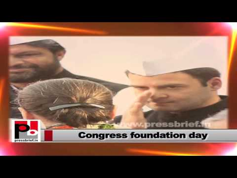 Rahul Gandhi- Congress foundation day