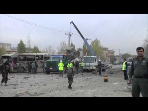 Raw: Suicide Bombing in Afghan Capital News Video