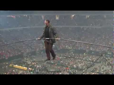 Wow..! See incredible Tightrope Stadium Stunt News Video